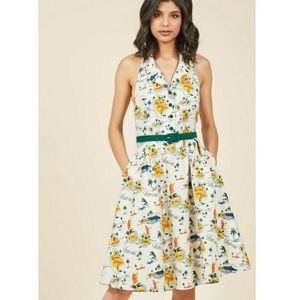 Mod Cloth Hawaiian island halter dress